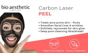 carbon laser peel Singapore bio aesthetic laser clinic hollywood peel
