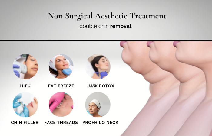 how to get rid of double chin - aesthetic treatments